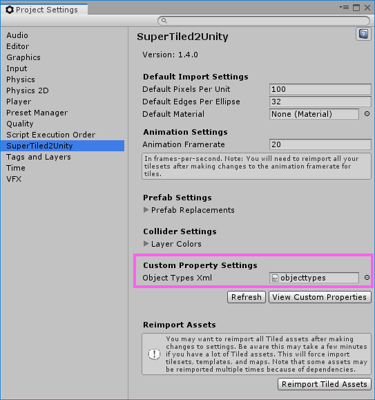 Custom Properties Support — SuperTiled2Unity 1 0 0 0